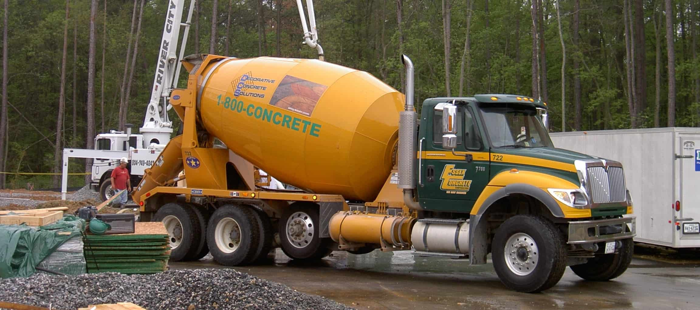 1-800-CONCRETE |ESSEX CONCRETE at job site in Richmond VA